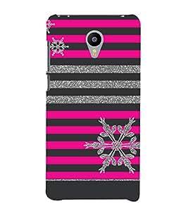 Fiobs Designer Phone Back Case Cover InFocus Bingo 50 ( Colorful Pattern Design Pink Black )