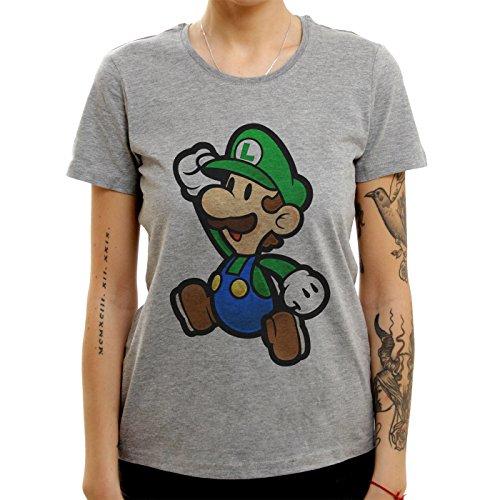 Luigi Mario Bro Super Quality Medium Donne T-Shirt
