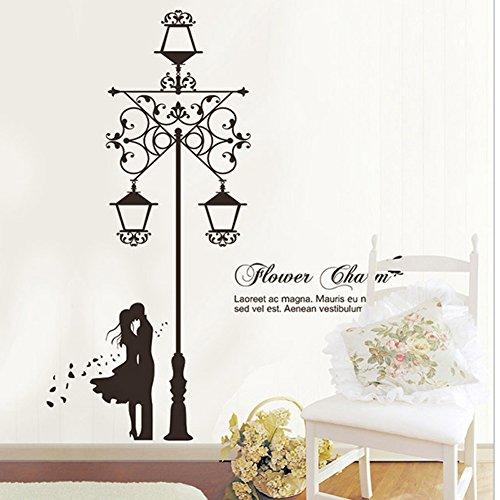 brooke-celine-home-dekoration-aufkleber-lovers-unter-the-street-lampe-home-decor-abnehmbare-tapete