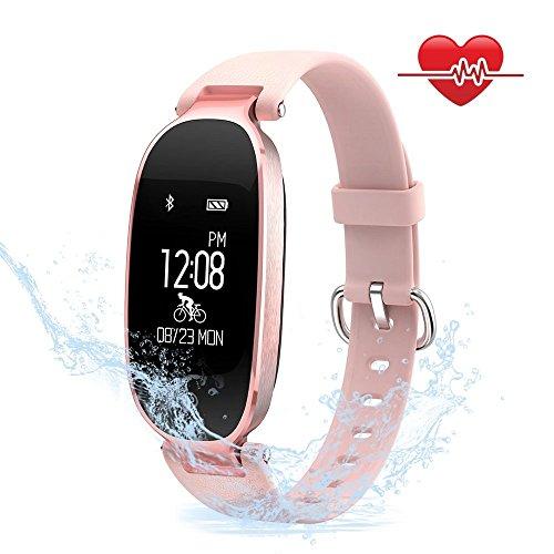 Foto de Mujeres Pulsera Deportiva Inteligente de Actividades Fitness Tracker Impermeable IP67 Monitor de Pulso Cardiaco Bluetooth con Contador de Calorias y Pasos/Monitor de Sueño/Reloj para iOS y Android