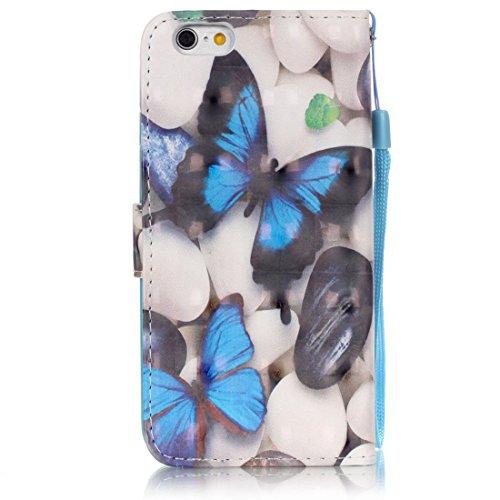 Yaking® Apple iPhone 6 Plus/6S Plus Coque, PU Portefeuille Étui Coque Stand Flip Housse Couvrir impression Case Cover pour Apple iPhone 6 Plus/6S Plus P-6