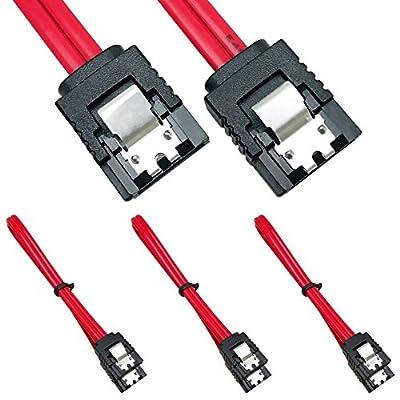 SATA Câble 6.0 Gbps, 3 Pack SATA3 Câble, 18 Pouce,180degrés Noir par Neeyer