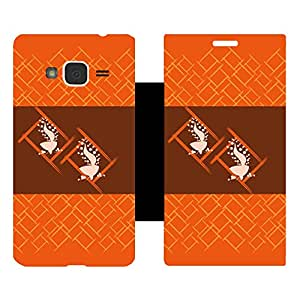 Skintice Designer Flip Cover with Vinyl wrap-around for Samsung Galaxy J3 (2016), Design - Diwali