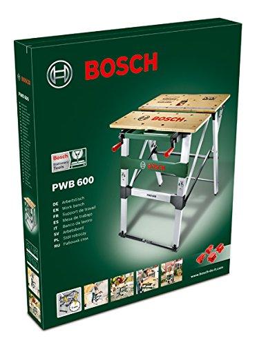 Bosch DIY PWB 600 Arbeitstisch, 4 Spannbacken, Karton (max. Tragfähigkeit 200 kg, Arbeitshöhe 834 mm, max. Spannbreite mit Klemme 525 mm) - 2
