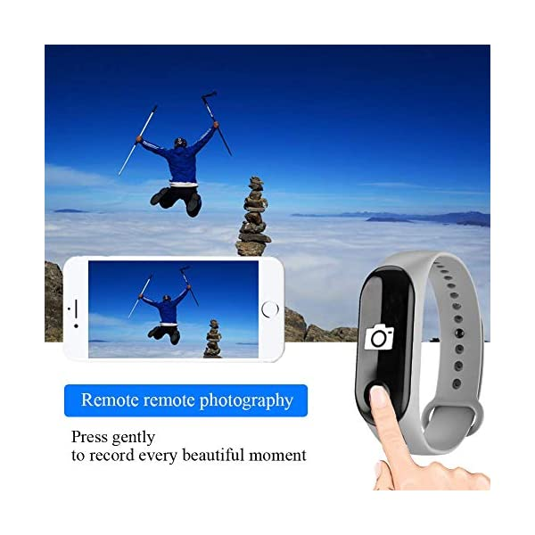 WISHDILO Pulsera de seguimiento de actividad física, monitor de ritmo cardíaco, pulsera inteligente para deportes al aire libre, podómetro impermeable con monitor de sueño para niños, damas y hombres, pulsera deportiva para contador de calorías 6