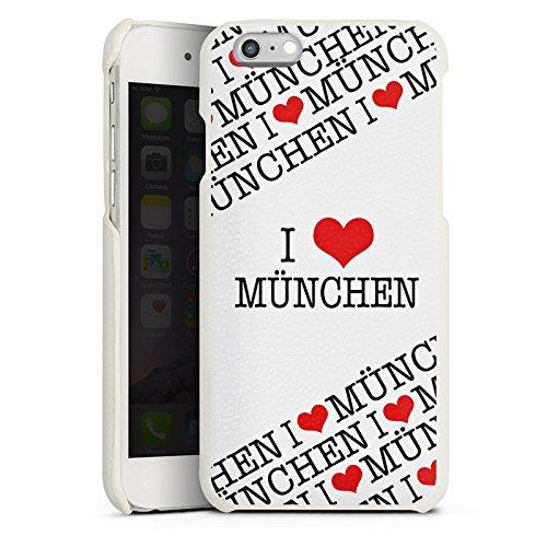 Apple iPhone 6 Lederhülle Leder Case Leder Handyhülle München Bayern Statement Leder Case weiß