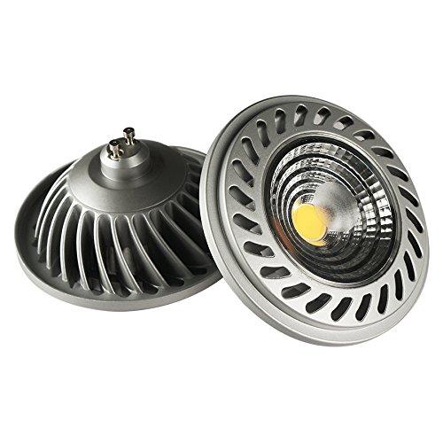 Lighted QR111 Ampoule LED 40 K gU10, 16 W, gris, 111 x 63 mm