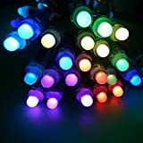 Dreamcolor 50pcs WS2801 Schnur RGB volle Farbe 12mm Pixel digital Adressierbare 5050 SMD LED Schnur DC 5V (50-WS2801-12MM-WP)
