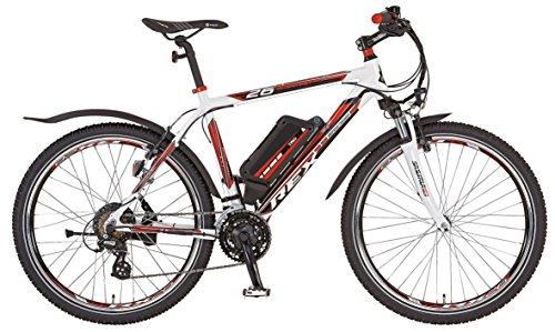 Prophete Herren Elektrofahrrad REX E-Bike Alu-ATB 26 Zoll Bergsteiger 6.7, weiß, 50, 51276-0111