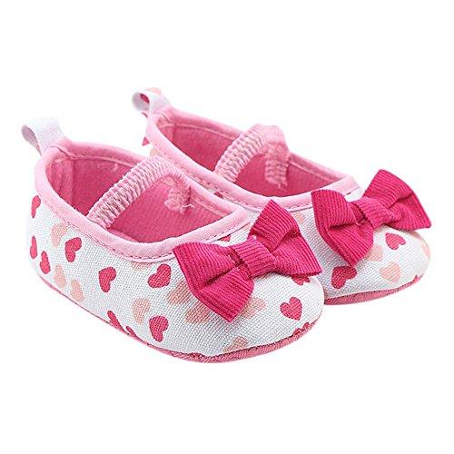 MiyaSudy Neugeborenen Babyschuhe Baby Mädchen Polka Dots Bogen Anti-Rutsch Weiche Sohle Schuhe Erste Wanderer Mokassins 0-18 Monate Weiß