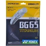 Yonex BG 65 Titanium Badminton Strings, 0.70mm (Black)