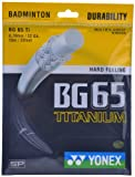 Yonex BG 65 Titanium Badminton Strings, 0.70mm (Black)