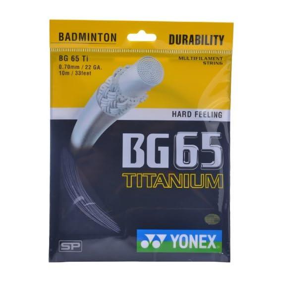 Yonex BG 65 Titanium Badminton String (Black)
