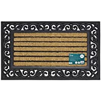 JVL Rubber And Coir Heavy Duty Karina Doormat 45 x 75 cm