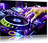 Dark DJ Plattenteller, Cool Music, Leinwandbild, Kunstdruck, Keilrahmen, Motive, Poster, riesig, gerahmt, Wandbild, Gemälde, Ölbild, Plakat, Format:100x70 cm