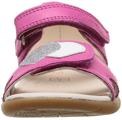 Clarks SoftlyWalk Fst Baby Mädchen Lauflernschuhe Pink (Pink Leather)