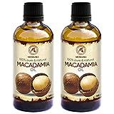 Huile de Macadamia 200ml - 100% Pur & Naturel 2x100ml - Huile de Base - Riche en...
