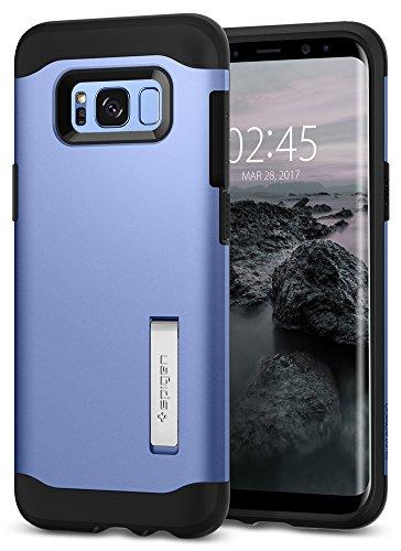 Spigen Slim Armor Samsung Galaxy S8 Hülle (565CS20834) 2-teilige Doppelschutzschicht Handyhülle Integrierter Kickstand Schutzhülle Case (Blue Coral) (Handy Blue)