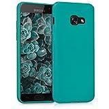kwmobile Samsung Galaxy A3 (2017) Cover - Custodia per Samsung Galaxy A3 (2017) in silicone TPU - Backcover protezione petrolio matt