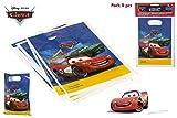 DISOK - Pack 8 Bolsitas Party Cars - Bolsitas, Bolsas para Golosinas y Cumpleaños Infantiles Regalos para Niños
