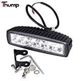 #4: Thump 6 LED Heavy Duty CREE LED Fog Light/ Work Light Bar Spot Beam Off Road Driving Lamp Universal Fitting for All Bikes and Cars (18W, Pack Of 1)