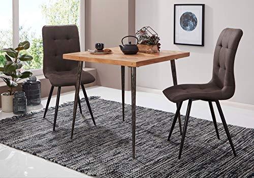 Tavolo Da Pranzo Industriale : Wohnling dynamic lodi tavolo da pranzo in legno massiccio di