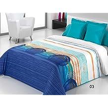 Reig Martí Caddy - Juego de funda nórdica estampada, 3 piezas, para cama de 150 cm, color azul