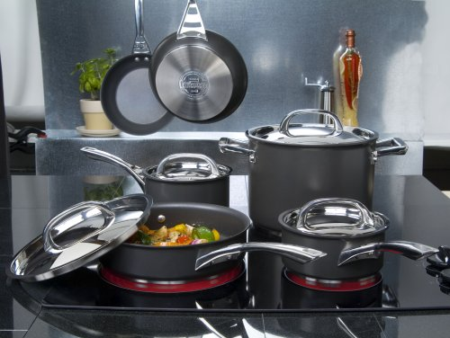 Circulon Infinite Hard Anodised Cookware Set, 5-Piece – Black