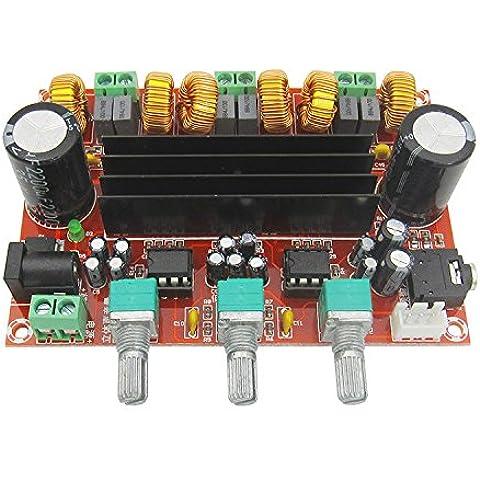 2.1-canale amplificatore digitale bordo 12V-24V TPA3116D2 2*50W+100)W ampia tensione modulo