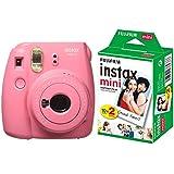 Fujifilm Instax Mini 9 InstantCamera (Flamingo Pink) with Film (20 Shots)