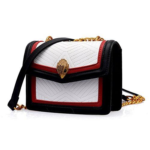 Frauen Mädchen Kleine Tasche Damen Retro-Hit Farbe Kleine Quadratische Tasche Weibliche Neue Kette Tasche Einfache Messenger Tasche Weibliche Tasche Schultertasche 14 * 19 * 7cm,Picturecolor-14*19*7cm
