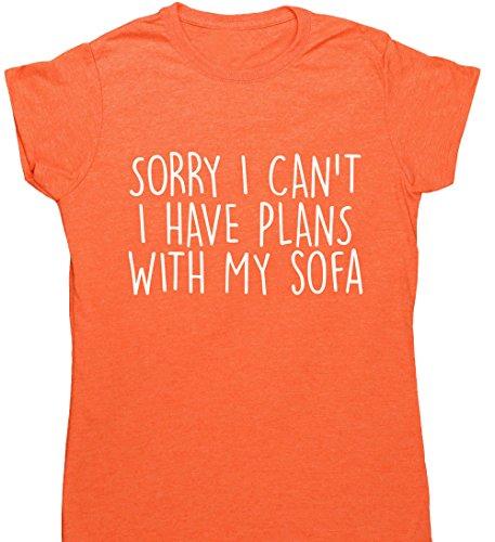 HippoWarehouse Damen T-Shirt Orange (Heather Orange)