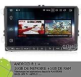 "GÜMÜ- PX3PROAV05- Autoradio GPS NAVIGATION VOLKSWAGEN Android 8.1 + Écran Tactile DE 9""+WiFi + Bluetooth + USB + Mémoire Interne 16GB , golf , passat, touran, tiguan"