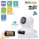 #6: Sricam SP019 2.0 MP Wireless Full Hd 1080P IP Wifi CCTV Indoor Security Camera (White)
