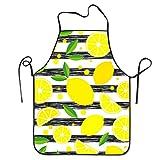 Bright Stripe & bavaglino grembiule da cucina cuoco chef uomini e donne Lemonade nero impermeabile ideale per la cottura, forno, fai da te, barbecue