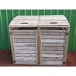 Mülltonnenbox 2 Tonnen Müllcontainer Müllbox Mülltonnenverkleidung 150 x 126 cm(