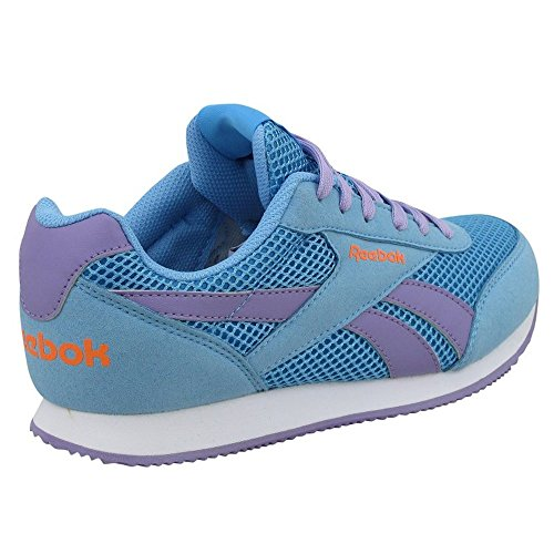 Reebok Royal Cljog 2rs, Chaussures de Running Entrainement Fille Azul / Morado / Naranja (Blue Splash / Smoky Violet / Electric Peach)