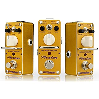 Distortion effect pedal PLEXION Classic British style Recreation of 70-80's Marshall amp tone with 2 modes bright and normal guitar pedal by Aroma Music brand Tom'sline Engineering