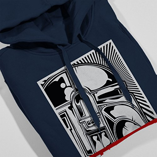 Obey Styled Star Wars Hunt Women's Hooded Sweatshirt Navy Blue