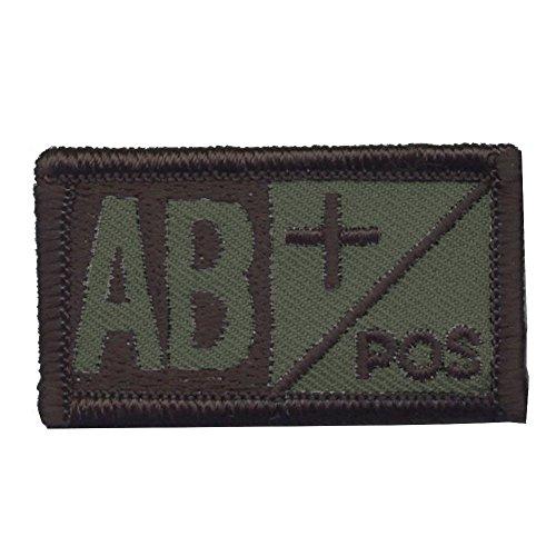 Insignia de tipo de sangre militar OneTigris, A+, B+, AB+, 0+, 5,08c