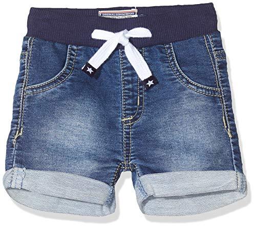 SALT AND PEPPER Baby-Jungen mit Kordelzug und gekrempeltem Saum Jeans, Blau (Original 099), (Herstellergröße: 80)