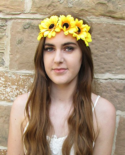 Grand Tournesol Bandeau Fleur Vintage Festival Boho Jaune daisy Plage Big P05 * * * * * * * * exclusivement vendu par – Beauté * * * * * * * *