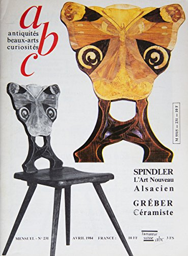 abc n° 231 d'avril 1984 : La manufacture Gréber, Meubles de Spindler, Maquettes de canon, maquettes de canons : la cote par Alain Jacob