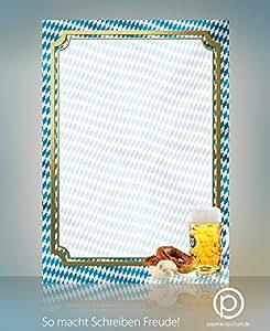 motiv papier oktoberfest speisekarten oder einladungspapier 50 blatt a4 100g qm hochwertiges. Black Bedroom Furniture Sets. Home Design Ideas