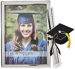 Idea Regalo - ZEP Tocco Cornice portafoto, Metallo, Argento, 21 x 19,5 x 2 cm