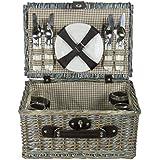 zq1–3753un, lavado de moda mimbre cesta de picnic para 4personas