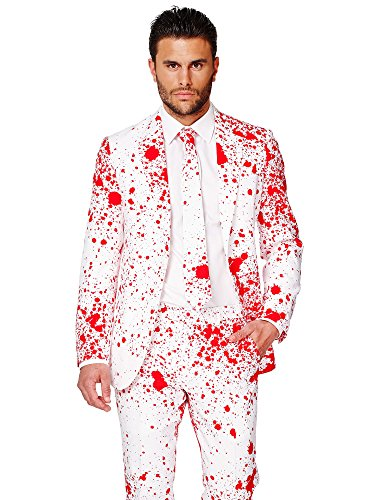 Opposuits OSUI-0036-EU48 - Bloody Harry - Halloween Kostüm, Blut Anzug, Größe 48, Mehrfarbig