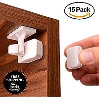 Vorteilspaket - Stick'n'lock Magnetische Kindersicherung 15 Stück mit 3 Schlüsseln - machen sie ihr Haus in unter 30 Minuten Babysicher - Für Schränke, Schubladen - Schanksicherung Schubladesicherung