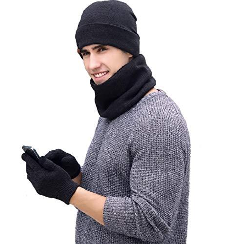 Women Warm Winter Woolen Knitted Caps Hats Hood Scarf Shawl Sets TM Fulltime