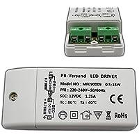 LED Leuchmittel Trafo 12V DC 0,5-15 Watt Typ: MR090009 Netzteil Treiber G4 Transformator